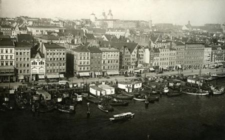Bulwar Nadodrzański, widok z wieży Urzędu Celnego  fot. sygn. K., ok. 1927 MNS/A.Foto/15531
