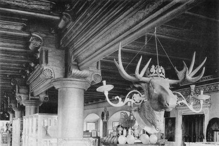 Zamek – wnętrze refektarza wypełnionego zbiorami sztuki  fot. koniec XIX wieku MNS/A.Foto/16154