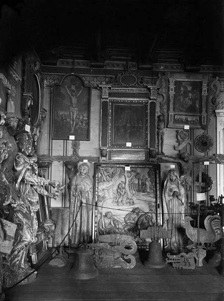 Zamek – zbiory muzealne w refektarzu  fot. koniec XIX wieku  MNS/A.Foto/13593