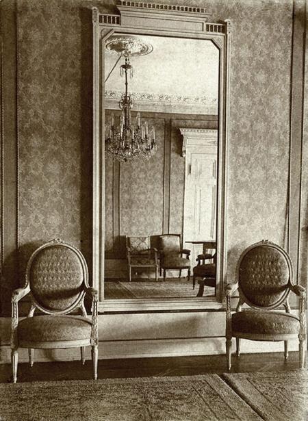 Zamek – wnętrza reprezentacyjne w skrzydle północnym i wschodnim  fot. sygn. H. Blum, 1929 MNS/A.Foto/15430