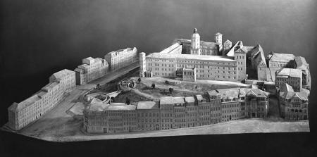 Makieta zamku i zabudowy wokół wykonana w 1912 roku  MNS/A.Foto/13657