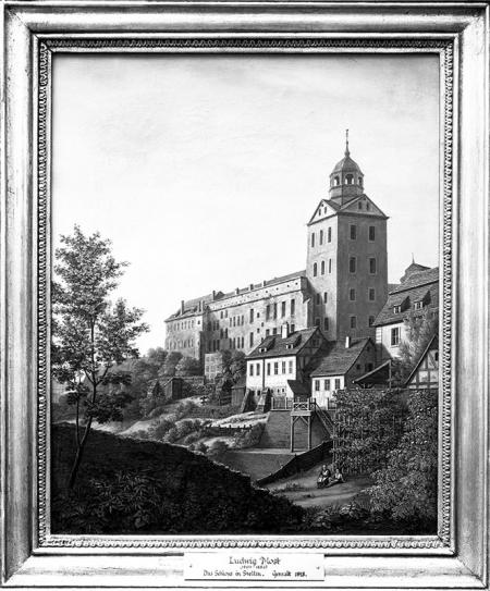 Zamek od strony północnej w 1828 roku  Ludwig Most (1807–1883), olej/płótno MNS/A.Foto/5279