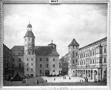 Dziedziniec zamkowy  Ludwig Most (1807–1883), olej/płótno, 1828 MNS/A.Foto/5297